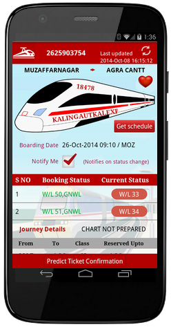 schedule indian railway