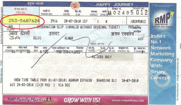 Pnr Status Check Pnr Status Indian Railway Passenger